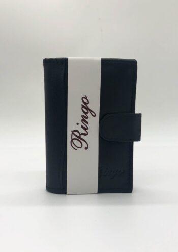#602 ארנק עור לכרטיסי אשראי עם לשונית